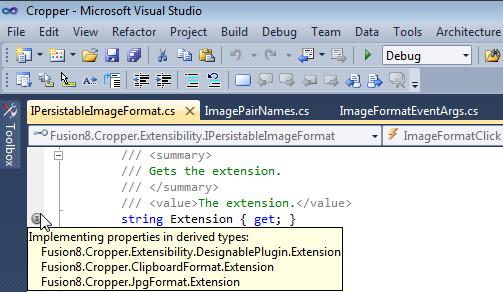 Implementing properties tooltip
