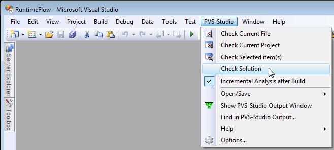PVS-Studio C++ static code analyzer tool for Visual Studio