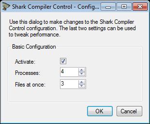 Shark Compiler Control Configuration
