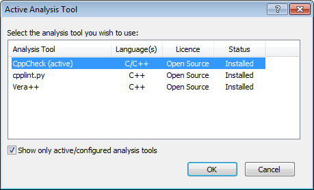 Analysis tool selection