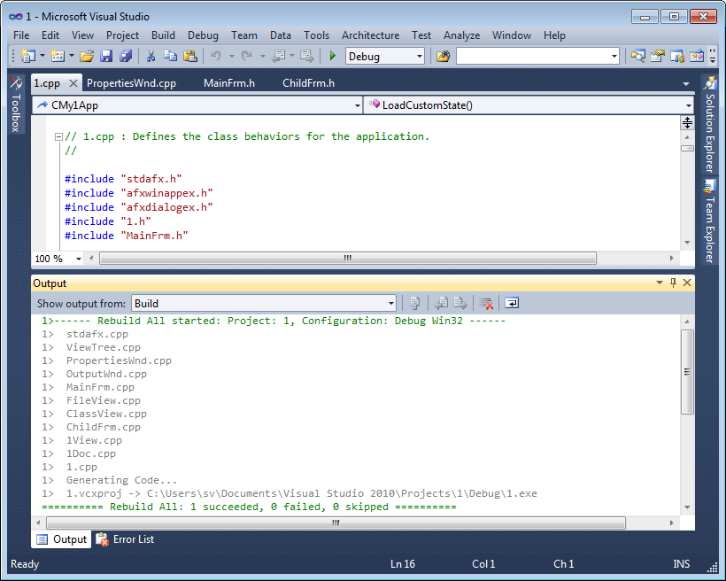 Colored build results in the Output window in Visual Studio 2010