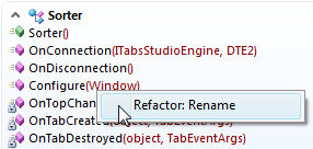 Rename context menu command