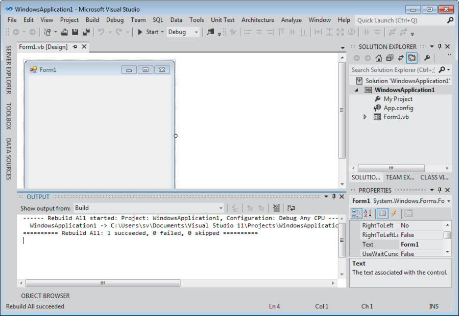 Original Visual Studio 11 Beta IDE