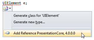 Add reference menu item in Visual Studio 2010 correction options popup menu
