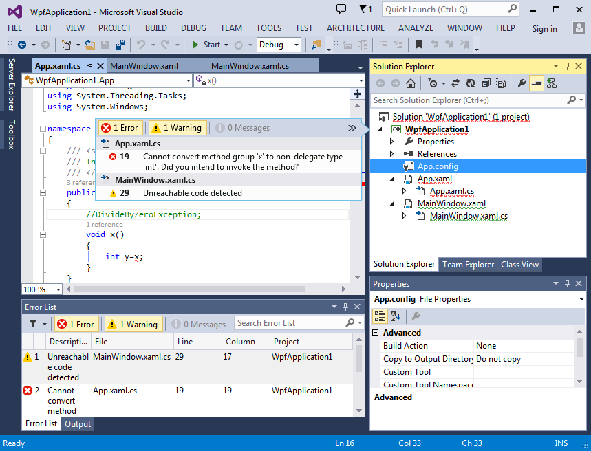 Solution Explorer Errors in Visual Studio 2013