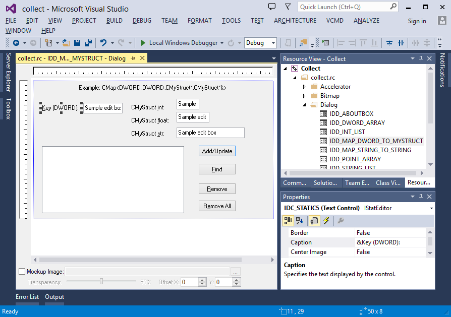 All mnemonics displayed for native dialog designer in Visual Studio 2013