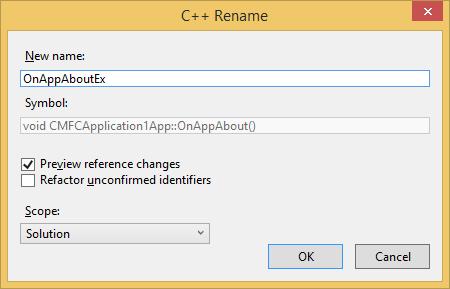 C++ Rename dialog