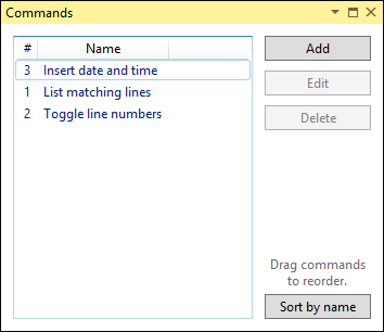 Commands reordering