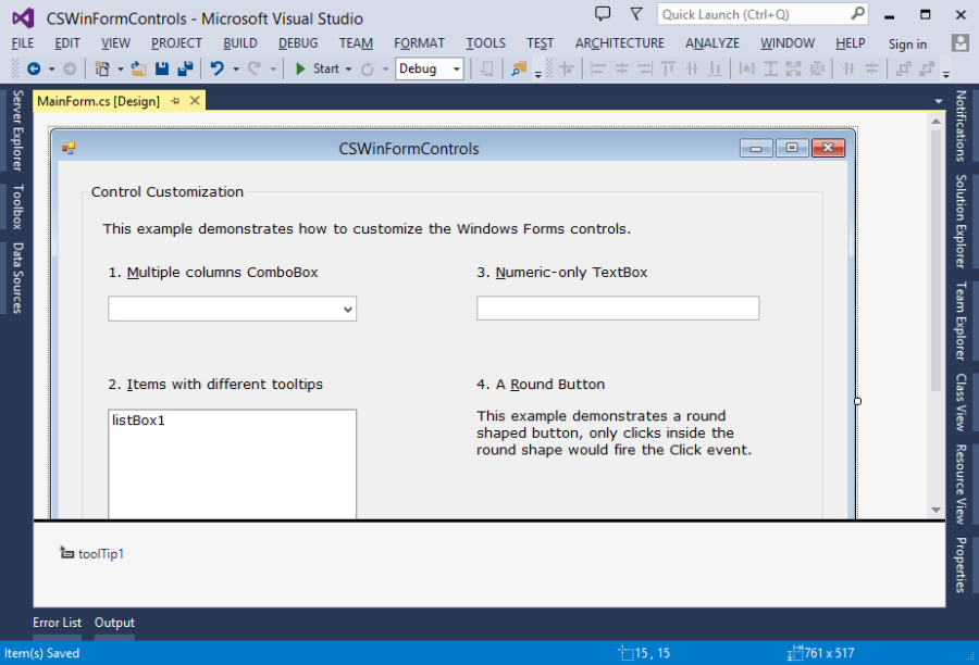 Windows Forms dialog designer in Visual Studio 2013