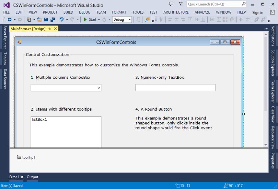 Windows Forms dialog designer in Visual Studio 2013