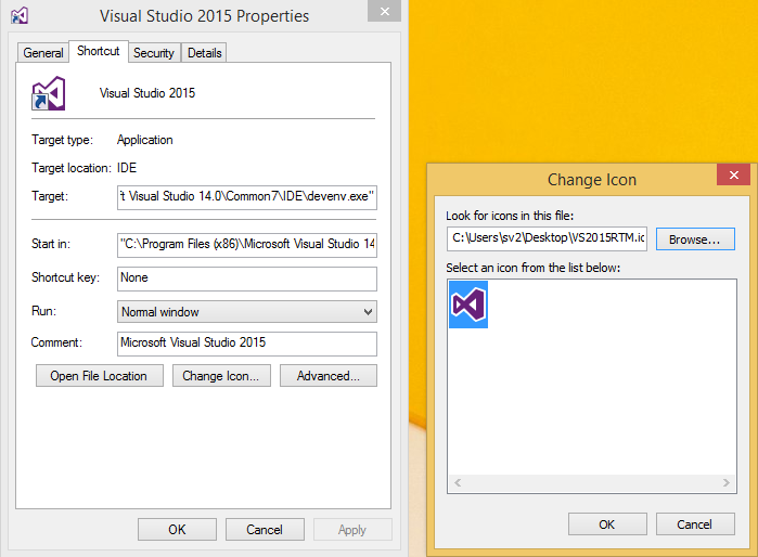 Visual Studio 2012 Icon