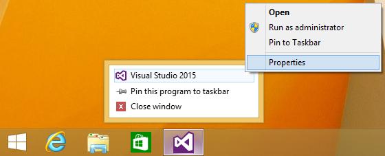 Taskbar context menus