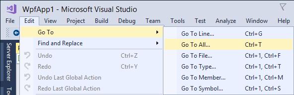 New code navigation shortcuts in Visual Studio 2017 | Making