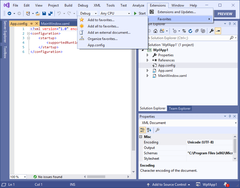 Favorite Documents v2 4 0 adds support for Visual Studio