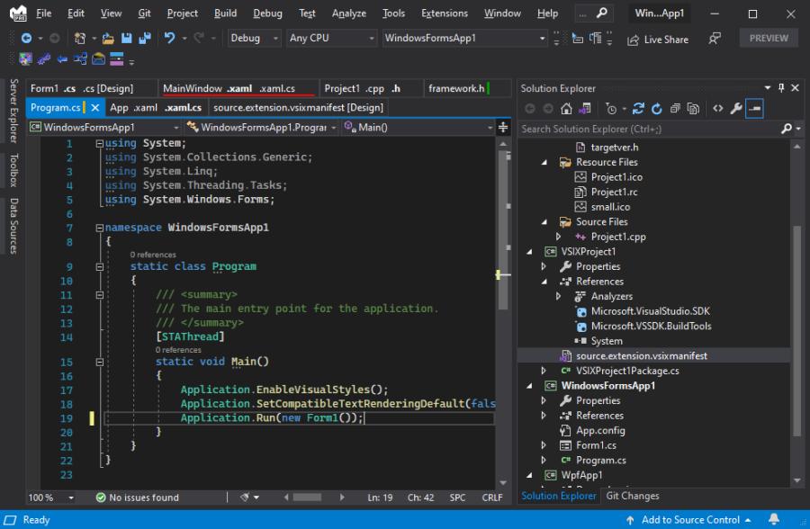 Tabs Studio in Visual Studio 2022